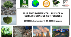 2019 Environmental Science and Climate Change Conference @ Singapore |  |  |
