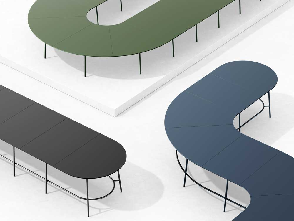 Marin Magazine, Modular Nest System Table by From Us With Love and Danish manufacturer +Halle