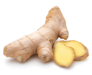 Ginger root is a healing food.